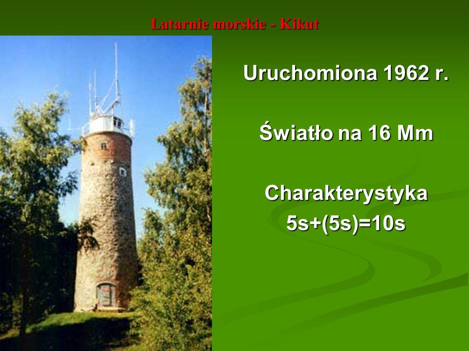 Latarnie morskie - Kikut Uruchomiona 1962 r. Światło na 16 Mm Charakterystyka5s+(5s)=10s
