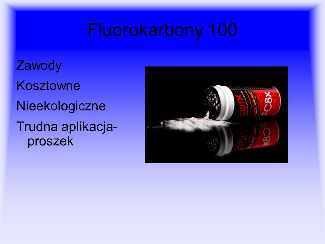 Fluorokarbony 100 Zawody Kosztowne Nieekologiczne Trudna aplikacja- proszek
