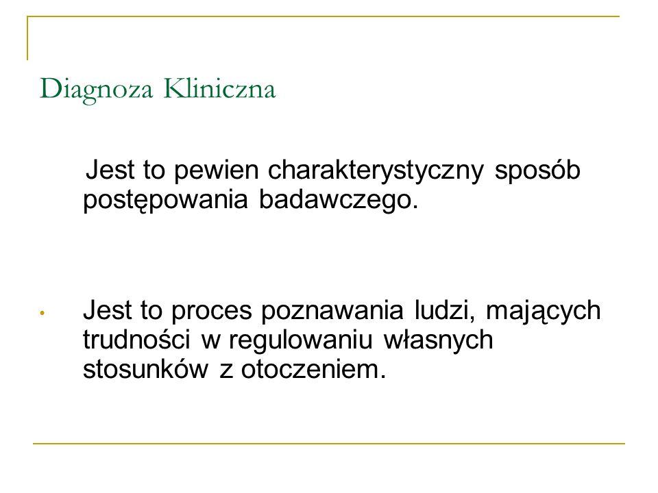 Rodzaje Diagnoz Klinicznych 1.Ze względu na zakres: A.