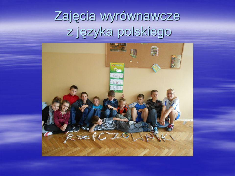 Cel zajęć Zajęcia wyrównawcze są przeznaczone dla uczniów i uczennic klas IV- VI szkoły podstawowej, którzy z różnych powodów mają trudności w opanowaniu podstawowych wiadomości i umiejętności z zakresu nauczania języka polskiego.