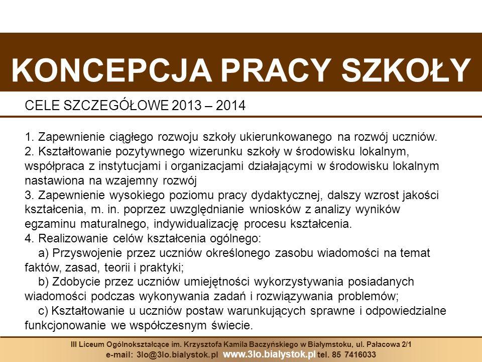 KONKURSY Nazwa konkursuNauczyciel odpowiedzialny za organizację JĘZYK POLSKI 1.