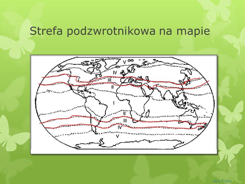 Strefa podzwrotnikowa na mapie Spis Treści