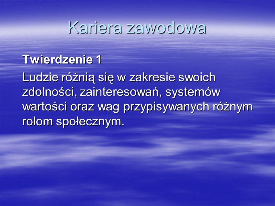 Kariera zawodowa Fazy rozwoju zawodowego według Supera (cz. I)
