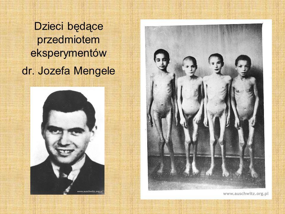 Dzieci będące przedmiotem eksperymentów dr. Jozefa Mengele