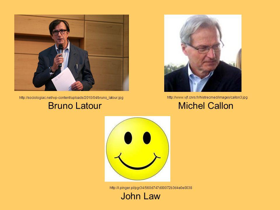 Bruno LatourMichel Callon John Law http://sociologiac.net/wp-content/uploads/2010/04/bruno_latour.jpg http://www.vjf.cnrs.fr/histrecmed/images/callon3