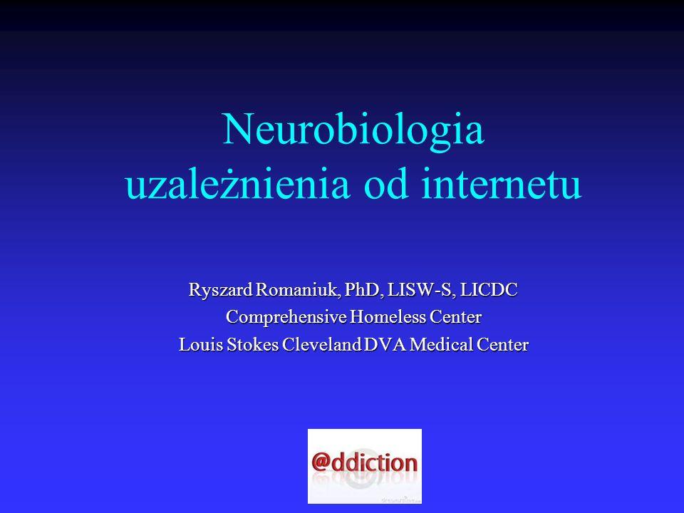 Neurobiologia uzależnienia od internetu Ryszard Romaniuk, PhD, LISW-S, LICDC Comprehensive Homeless Center Louis Stokes Cleveland DVA Medical Center