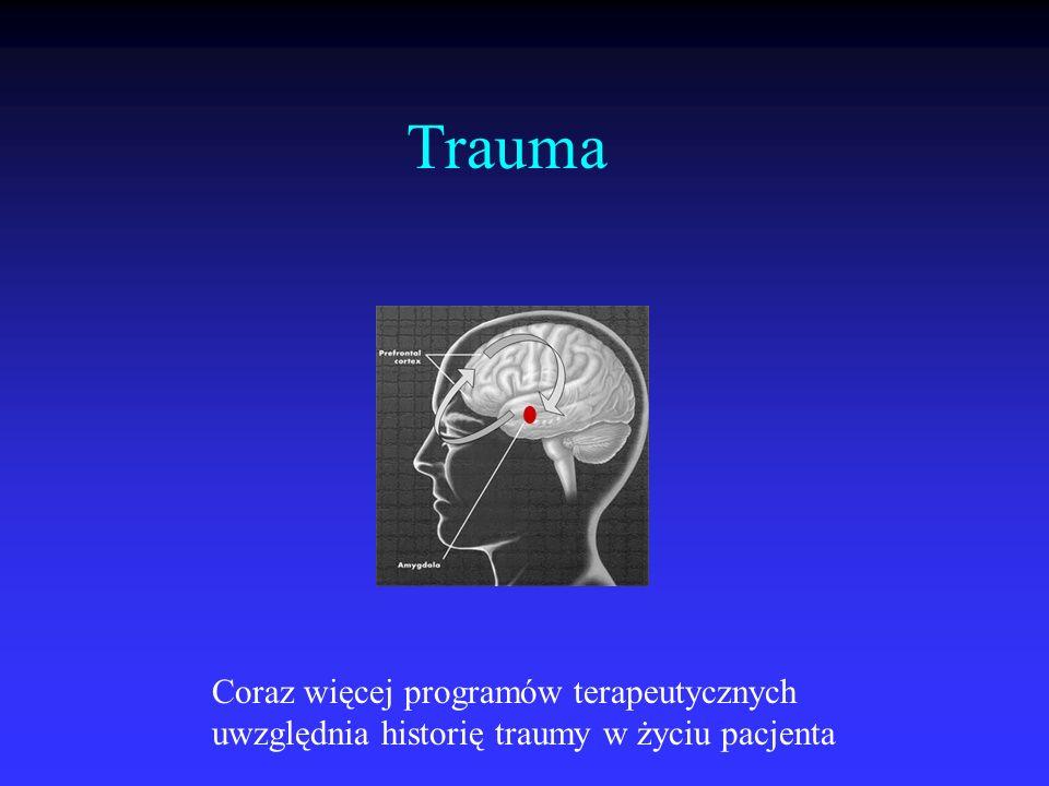 Trauma Coraz więcej programów terapeutycznych uwzględnia historię traumy w życiu pacjenta