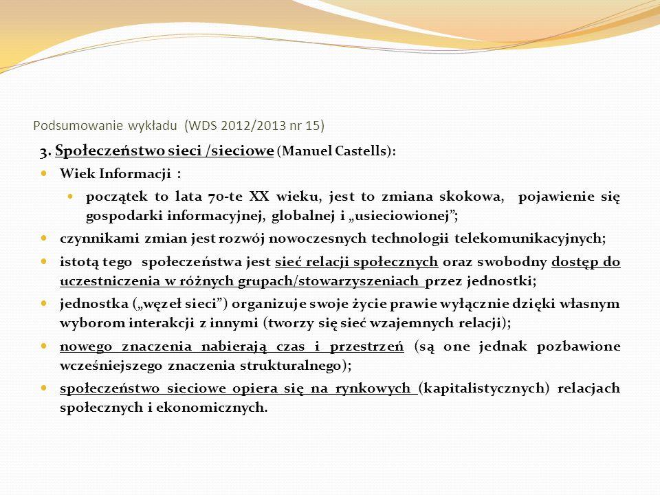 Podsumowanie wykładu (WDS 2012/2013 nr 15) 4.
