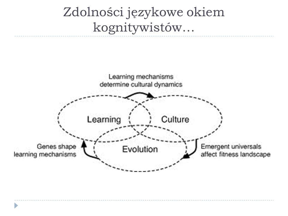 Zdolności językowe okiem kognitywistów…