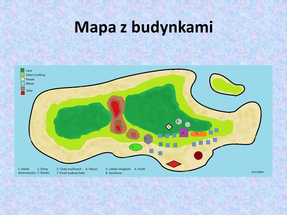 Mapa z budynkami