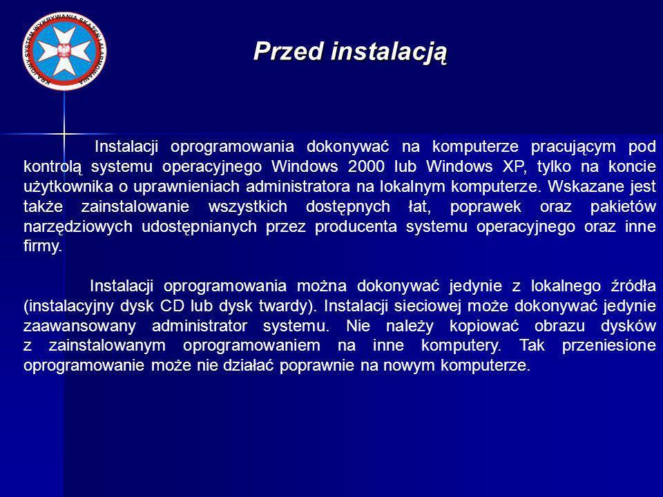 Instalacja PGO Pierwszym krokiem instalacji SI PROMIEŃ jest zainstalowanie Pakietu Grafiki Operacyjnej PGO - wersja lipiec 2008 wraz z SP1 zgodnie z instrukcją umieszczoną na dysku instalacyjnym PGO.