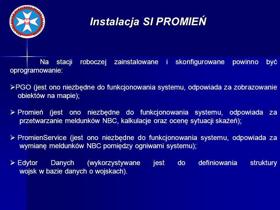 Instalacja SI PROMIEŃ Instalacji SI Promień dokonuje się z wykorzystaniem dostarczonych instalatorów oprogramowania zawartych na nośnikach instalacyjnych (CD-ROM).