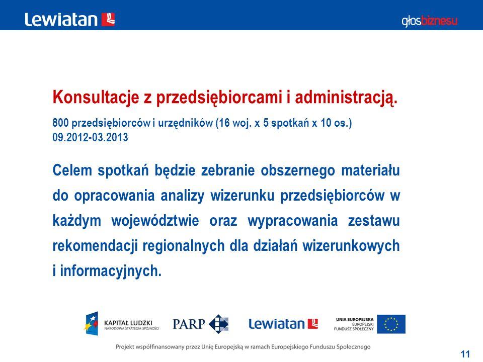 11 Konsultacje z przedsiębiorcami i administracją.