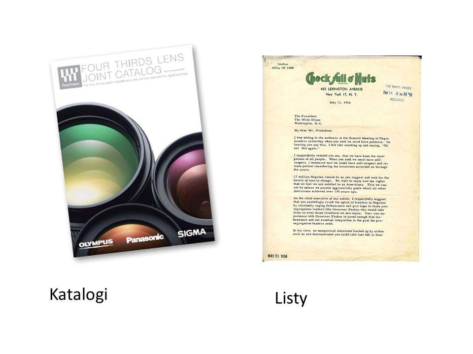 Katalogi Listy