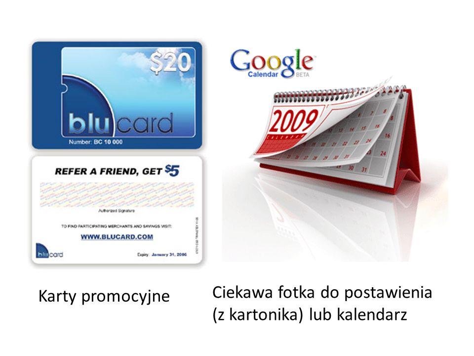 Karty promocyjne Ciekawa fotka do postawienia (z kartonika) lub kalendarz