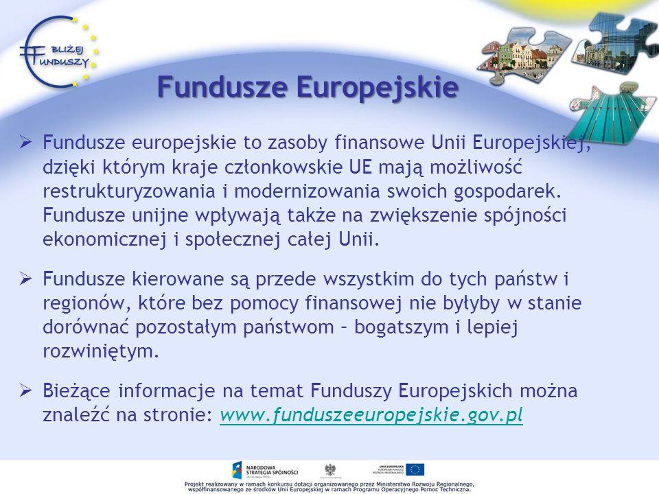 Programy Operacyjny Środki z funduszy europejskich przyznawane są w ramach dokumentów służących wdrażaniu unijnych finansów – tzw.