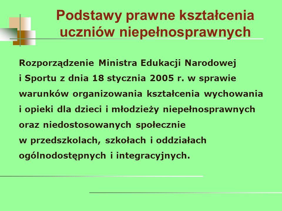 Rozporządzenie Ministra Edukacji Narodowej i Sportu z dnia 18 stycznia 2005 r.