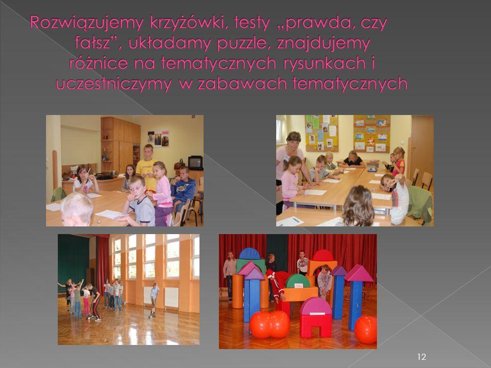 13 Na zajęcia zaprosiliśmy florystkę, panią Zaporę, mamę uczestnika Korowodu obrzędowego.