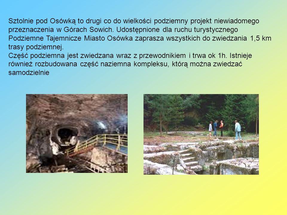 Sztolnie pod Osówką to drugi co do wielkości podziemny projekt niewiadomego przeznaczenia w Górach Sowich. Udostępnione dla ruchu turystycznego Podzie