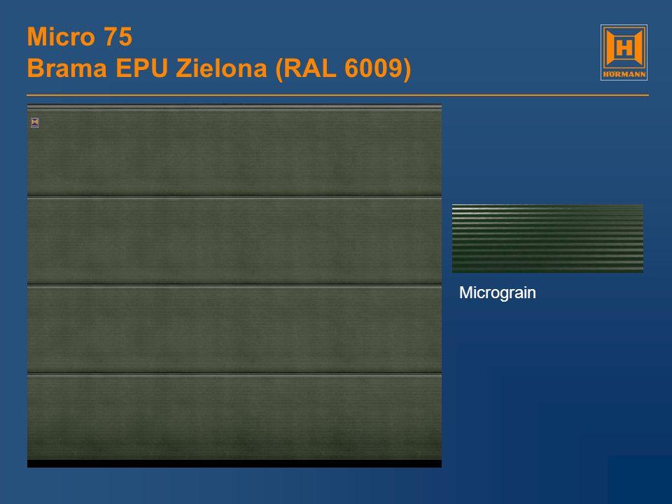 Micro 75 Brama EPU Zielona (RAL 6009) Micrograin