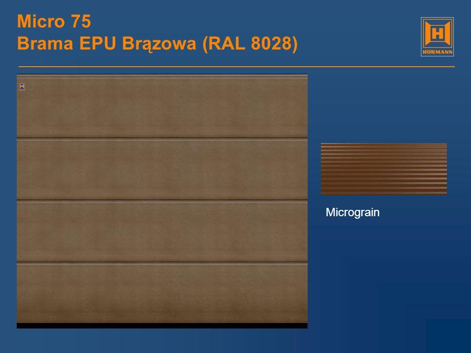 Micro 75 Brama EPU Brązowa (RAL 8028) Micrograin