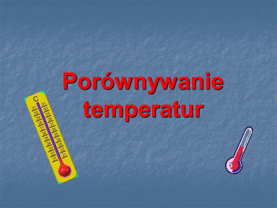 Porównywanie temperatur