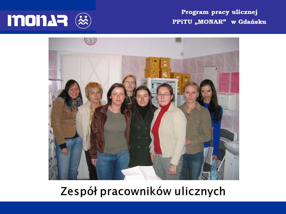 Program pracy ulicznej PPiTU MONAR w Gdańsku Zespół pracowników ulicznych