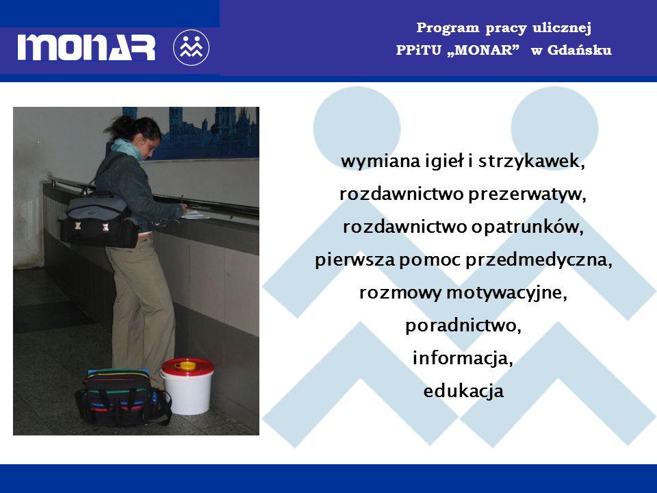 PORADNIA PROFILAKTYKI i TERAPII UZALEŻNIEŃ MONAR w Gdańsku zmniejszenie szkód społecznych i jednostkowych wywołanych przez uzależnienie, w tym m.in.