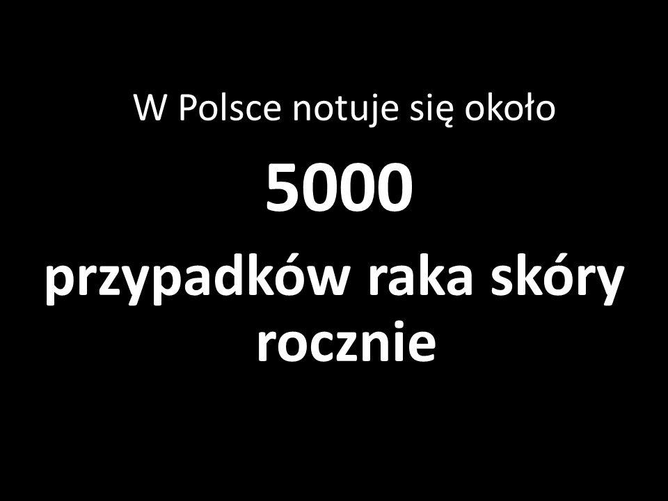 W Polsce notuje się około 5000 przypadków raka skóry rocznie