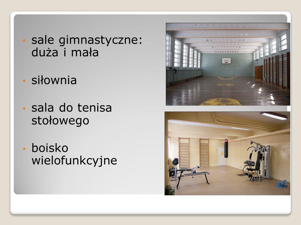 bardzo dobrze wyposażone sale przedmiotowe bardzo dobrze wyposażona biblioteka wraz z Centrum Informacji Medialnej opieka pielęgniarki szkolnej.