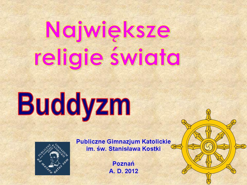 ABC wiary Buddyzm dzieli się dziś na: hinajastyczny (mnisi w klasztorach, nie uznają żadnego boga) mahajanistyczny (czczący różne lokalne bóstwa, a także samego Buddę, którego uznano za boga).