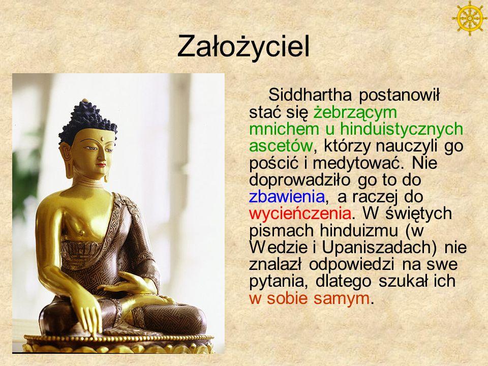 Założyciel Tak medytując w Bodhgaja pod figowcem doznał przebudzenia (bodhi), oświecenia i staje się Buddą - przebudzonym.