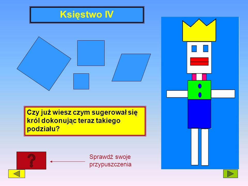 Księstwo IV Czy już wiesz czym sugerował się król dokonując teraz takiego podziału? Sprawdź swoje przypuszczenia