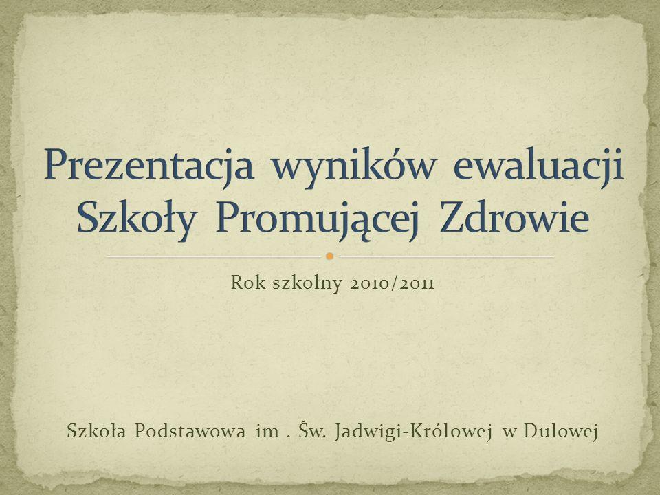Rok szkolny 2010/2011 Szkoła Podstawowa im. Św. Jadwigi-Królowej w Dulowej