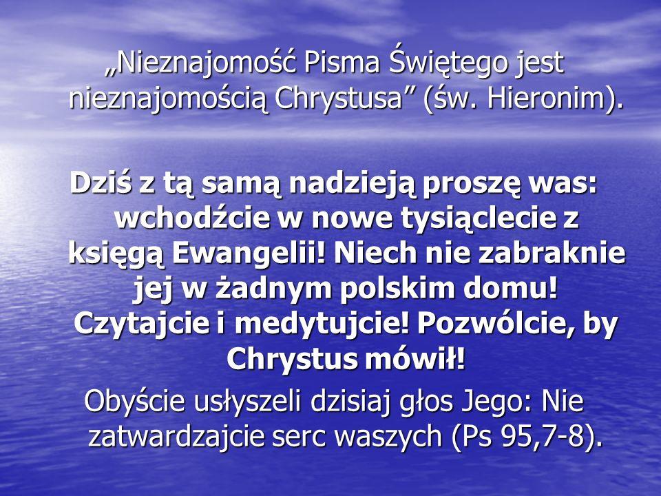 Słowo Pisma świętego jest objawieniem osoby Bożego Syna, jest Nim samym, stopniowo ujawniającym się człowiekowi w wydarzeniach historii zbawienia.