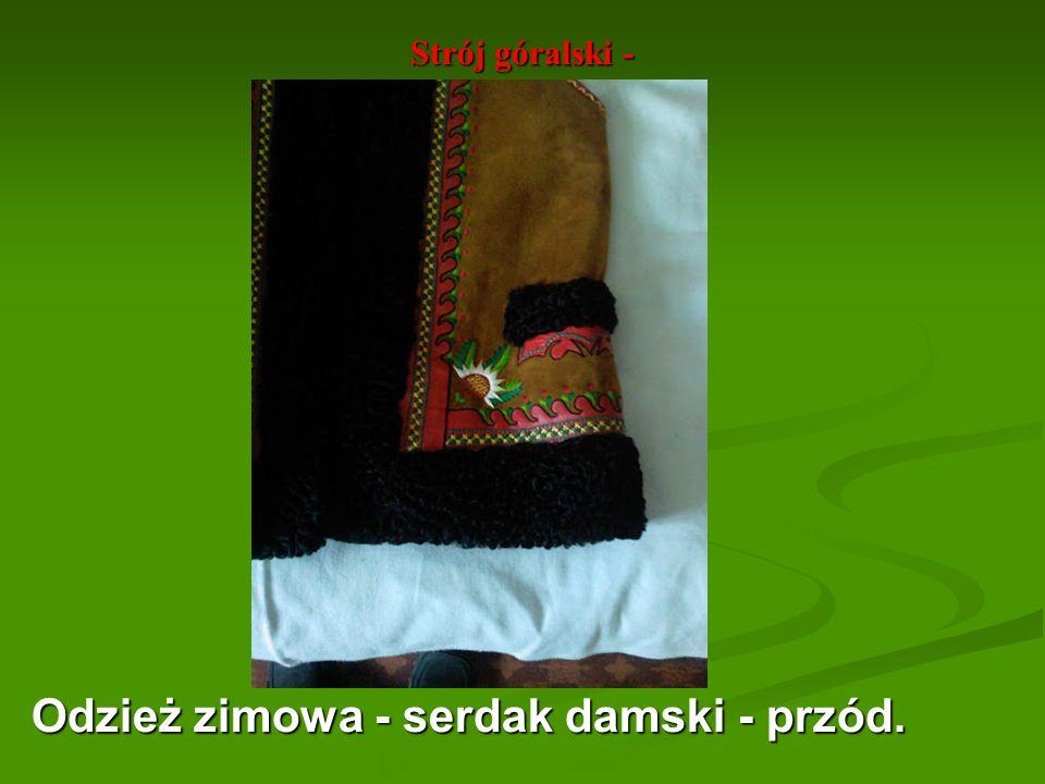 Strój góralski - Odzież zimowa - serdak damski - przód.