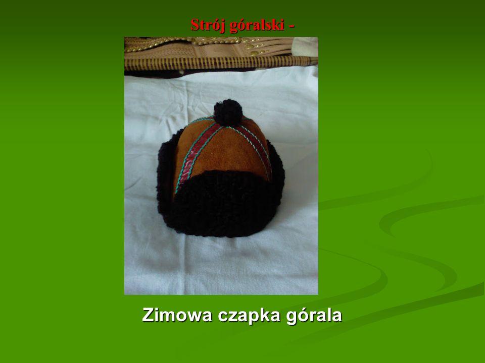 Strój góralski - Zimowa czapka górala