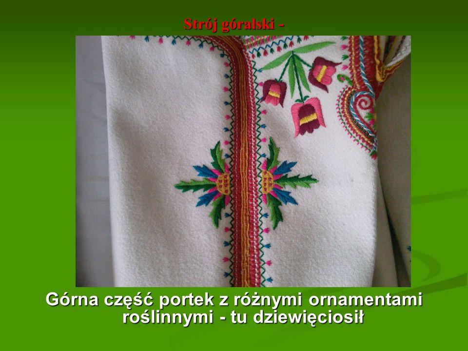 Strój góralski - Serdak pieniński - przód.