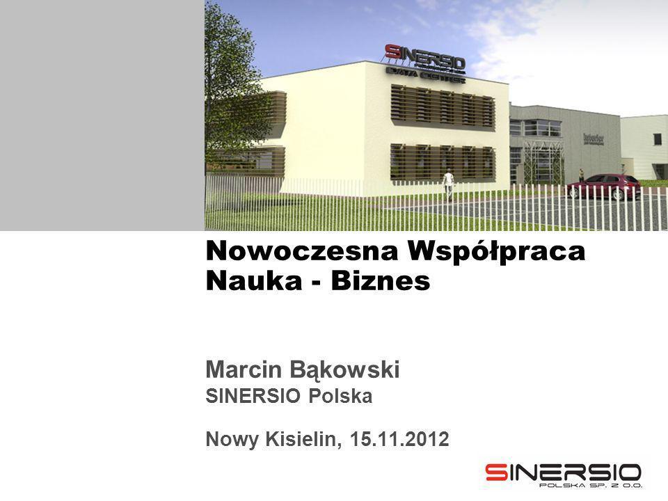 Marcin Bąkowski SINERSIO Polska Nowy Kisielin, 15.11.2012