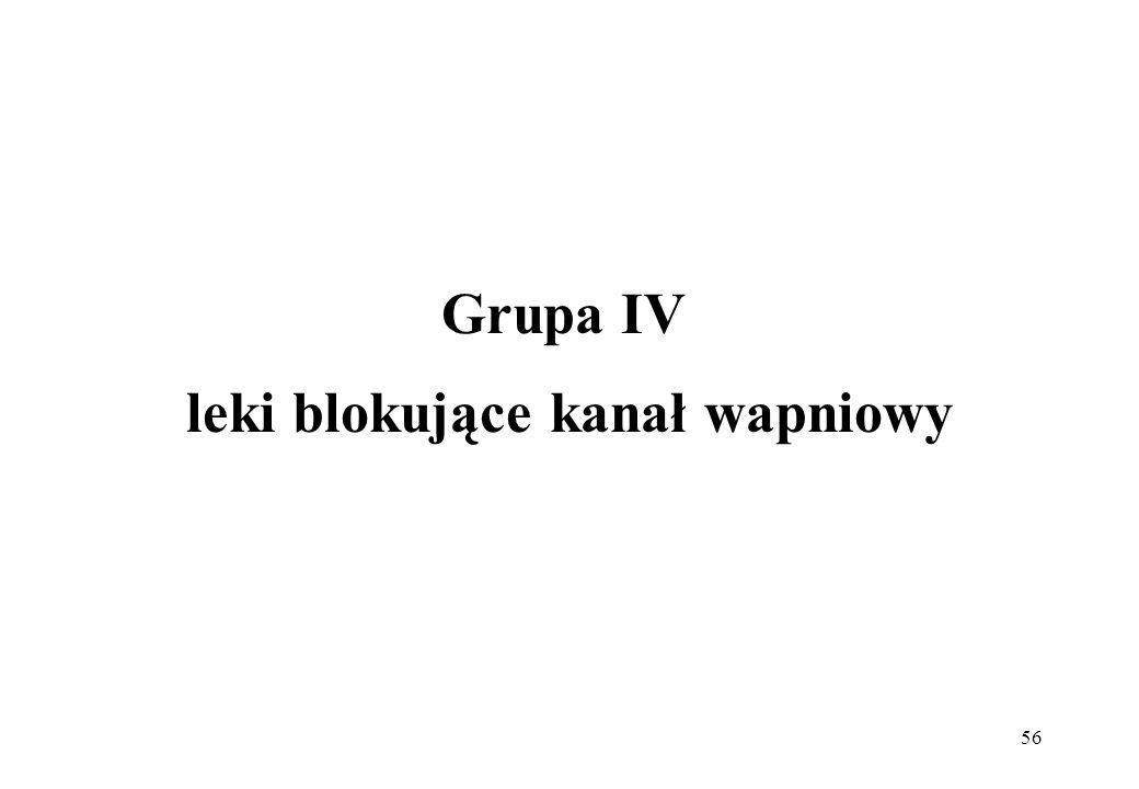 56 Grupa IV leki blokujące kanał wapniowy