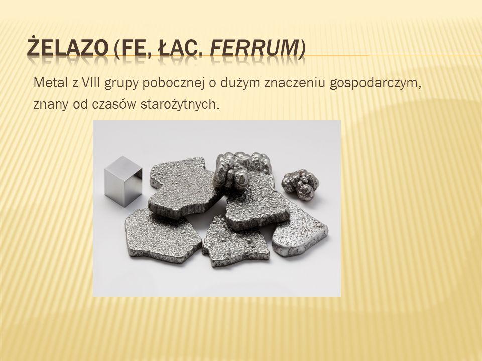 Metal z VIII grupy pobocznej o dużym znaczeniu gospodarczym, znany od czasów starożytnych.