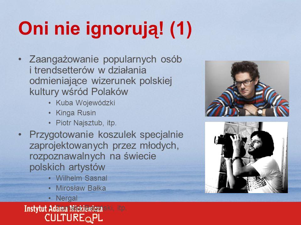 Oni nie ignorują! (1) Zaangażowanie popularnych osób i trendsetterów w działania odmieniające wizerunek polskiej kultury wśród Polaków Kuba Wojewódzki