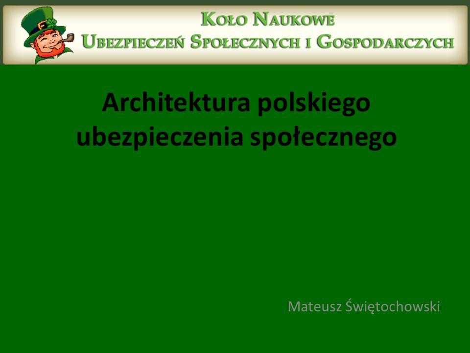 Architektura polskiego ubezpieczenia społecznego Mateusz Świętochowski