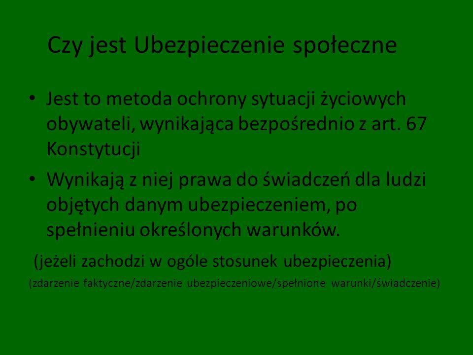 Ubezpieczenie społeczne w Polsce Ustawa z 13 października 1998 r.