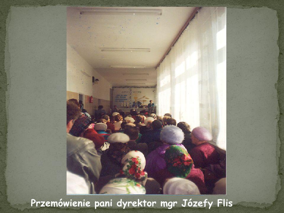 Przemówienie pani dyrektor mgr Józefy Flis