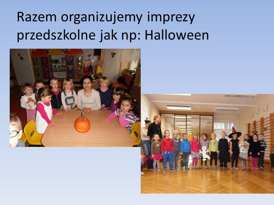 Razem organizujemy imprezy przedszkolne jak np: Halloween