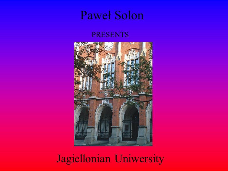 Paweł Solon PRESENTS Jagiellonian Uniwersity