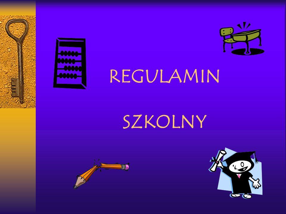 REGULAMIN SZKOLNY