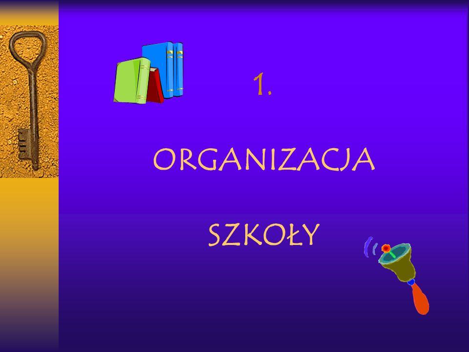 1. ORGANIZACJA SZKOŁY