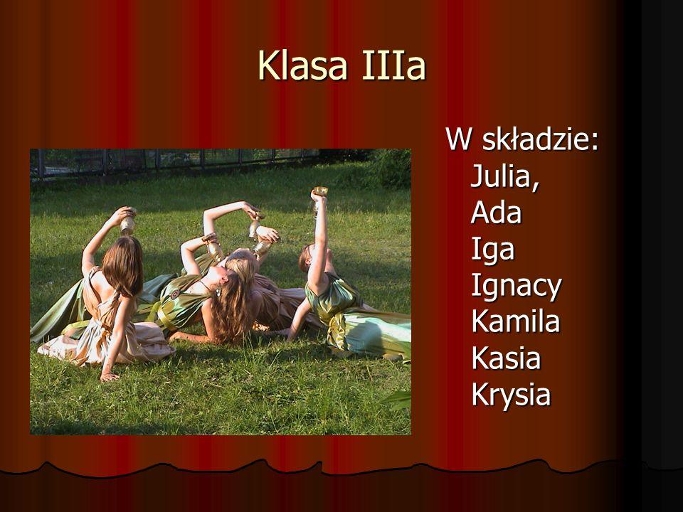 Klasa IIIa W składzie: Julia, Ada Iga Ignacy Kamila Kasia Krysia
